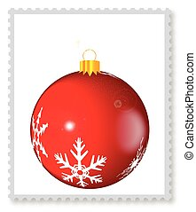 Christmas Stamp With White Space