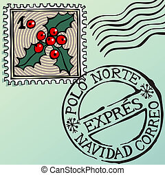 Christmas Stamps - Doodle Christmas stamps, vector eps8...