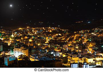 Christmas star above Bethlehem, Palestine, Israel