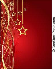 Christmas star background - Decorative Christmas star...