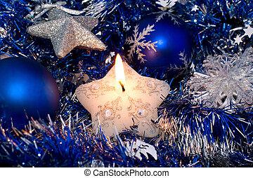 Christmas star candle