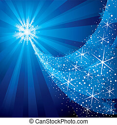 Christmas Star - Christmas background, shiny stars and...