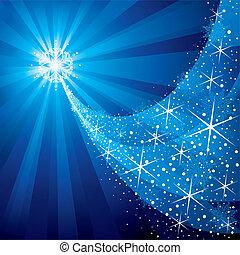 Christmas Star - Christmas background, shiny stars and...