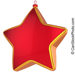 christmas star hi res red christmas star shape bauble with golden border modern xmas new year