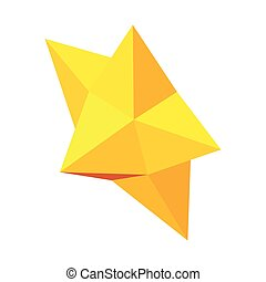 Christmas star icon, isometric 3d style