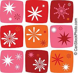 Christmas star Icons set