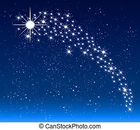Christmas star in the night sky