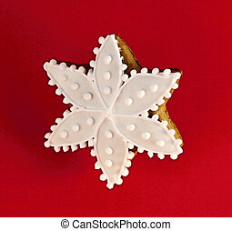 Christmas star made by gingerbread