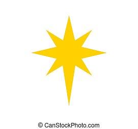 Christmas star of Bethlehem symbol.