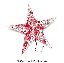 Christmas star on a white background
