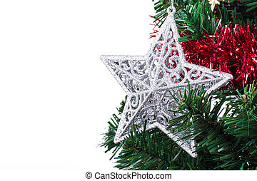 Christmas Star on Decorative Tree