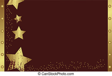 christmas star on red background - Abstract golden christmas...