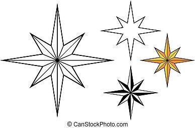 Christmas Star set vector illustration