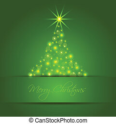 Christmas star tree background