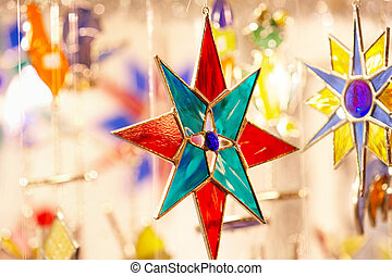 Christmas star - Weihnachtsstern - Christmas star with...