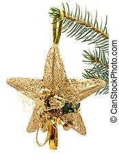 christmas star with angel