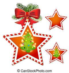Christmas star with tree