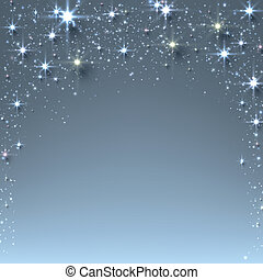 Christmas starry background with sparkles. - Blue christmas...