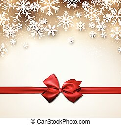 Christmas starry background with ribbon.