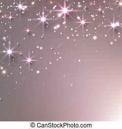 Christmas starry background with sparkles. - Pink christmas...