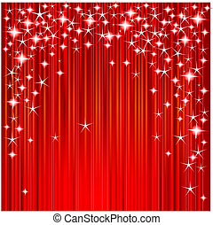 Christmas stars and stripes - Red Christmas background with ...