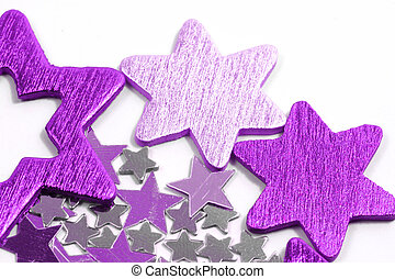 Christmas stars isolated