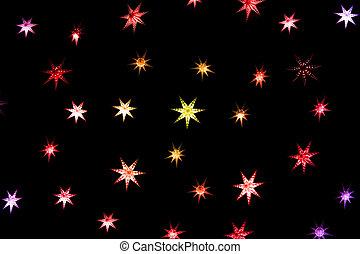 Christmas stars on a dark background