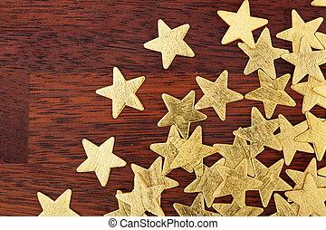 Christmas stars on a table