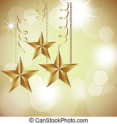 christmas stars on abstract white lights background. vector...