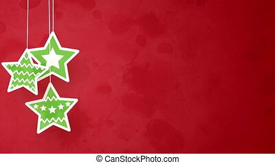 christmas stars on red loopable background