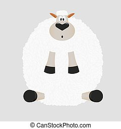 Christmas sticker sheep