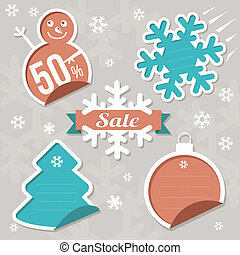 Christmas Sticker tags - Sale