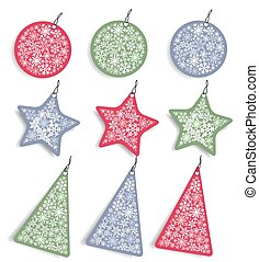 Christmas stickers and tags