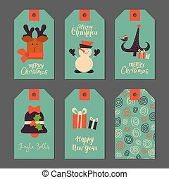 Christmas stickers for decoration