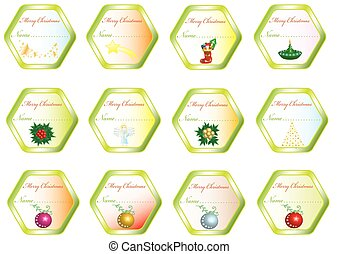 Christmas stickers with pictures
