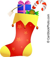 christmas stocking - a decorative Christmas stocking with...