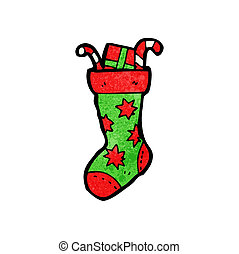 christmas stocking cartoon character