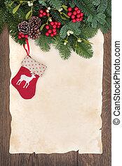 Christmas Stocking - Christmas stocking decoration with...