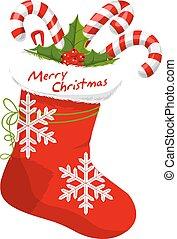 Christmas Stocking, illustration - Christmas Stocking...