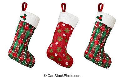 Christmas stocking isolated on white background