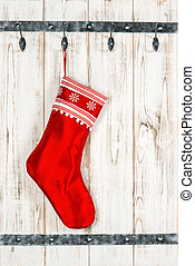Christmas stocking. Red sock for gifts