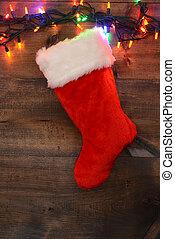 christmas stocking with lights