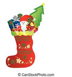Christmas Stocking with Santa