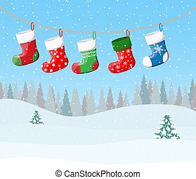 Christmas stockings for presents