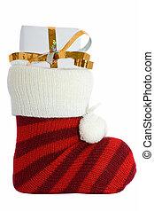 christmas stockings isolated