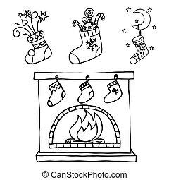 Christmas stockings set.
