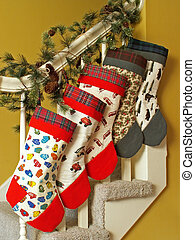 Christmas stockings - stockings hanging for Christmas