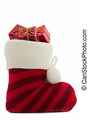 christmas stockings with presents