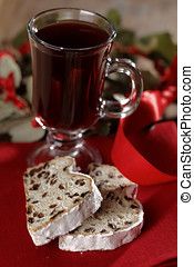 Christmas stollen and mulled wine