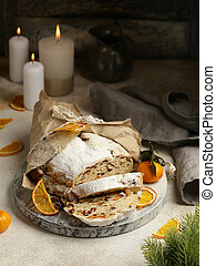 Christmas stollen for treats and decorations